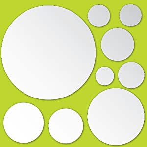 Wallpops espejos decorativos redondos adhesivos bricolaje y herramientas - Espejos decorativos amazon ...