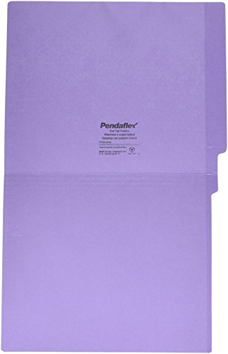 Pendaflex H110DPR Reinforced 2-Ply Folders, Straight Cut, End Tab, Letter Size, PE, 100 per Box Photo #4