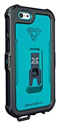 Armor-X Waterproof iPhone 6 Phone Case with Carabiner Blue X-Mount Shockproof