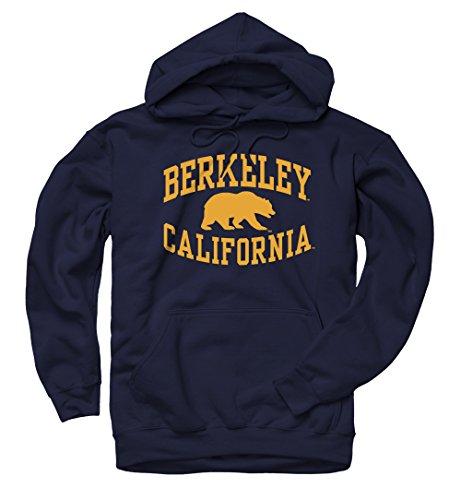Men's Berkeley Walking Bear Inverted California Hoodie Sweatshirt (L - Berkeley Cal Hoodie