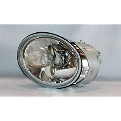 TYC 20-5446-00-1 Compatible with Volkswagen Beetle Left Replacement Head Lamp: Automotive