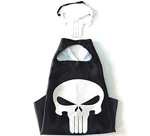 [Over 35+ Styles Superhero Halloween Party Cape and Mask Set for Kids (Punisher)] (Punisher Costumes For Sale)