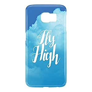 Loud Universe Samsung Galaxy S6 3D Wrap Around Fly High Print Cover - Blue/White