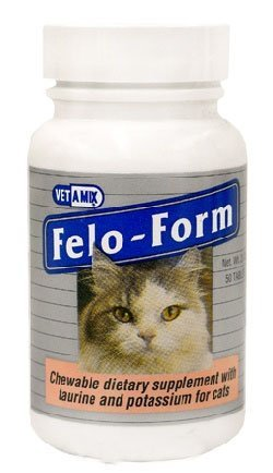3 PACK FELO-FORM CHEWABLE DIETARY SUPPLEMENT WITH TAURINE AND POTASSIUM FOR CATS, 50CT EACH (150 CHEWTABS)