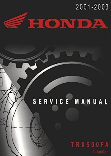 Price comparison product image Honda TRX 500 FA Rubicon 2001-2003 Repair Service Manual CD / DVD / PDF