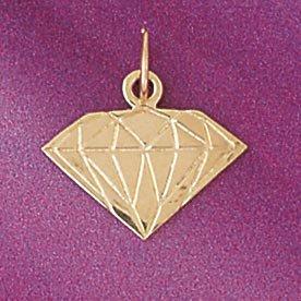 Amazon gold diamond shaped charm pendant jewelry gold diamond shaped charm pendant aloadofball Images