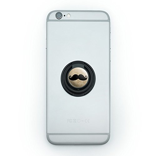 Curly Mustache Mobile Smart Phone Finger Ring Grip Holder Stand