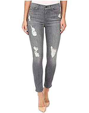 7 For All Mankind Women's The Ankle Skinny w/ Destroy in