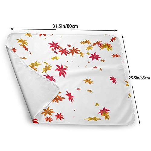 Maple Baby Changing Table - UBSOCKSG Maple Leaf Reusable Changing Mat Portable Waterproof Baby Diaper Changing Travel Home Change Mat Organizer Bag Boys Girl Newborn Multi-Function Storage Bag