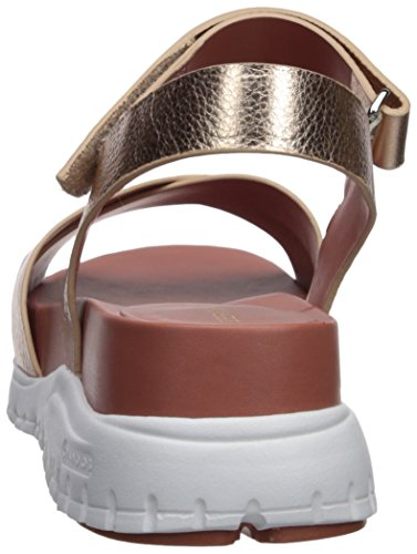 Cole Sandal Leather Ii Rose Gold Flat Zerogrand Women's Haan rtqAr
