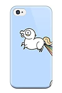 Hot Snap-on Rainbow Fart Hard Cover Case/ Protective Case For Iphone 4/4s