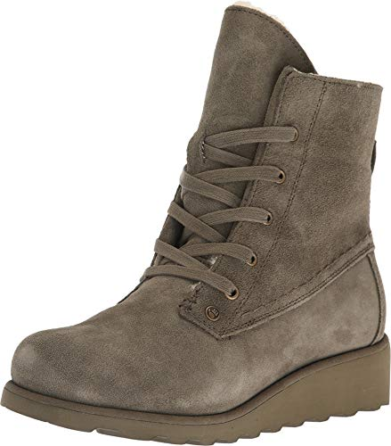 BEARPAW Womens Krista Closed Toe Mid-Calf Cold Weather Boots, Olive, Size 7.0 ()