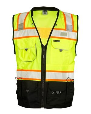 ML Kishigo Premium Black Series Surveyors Vest XL Lime