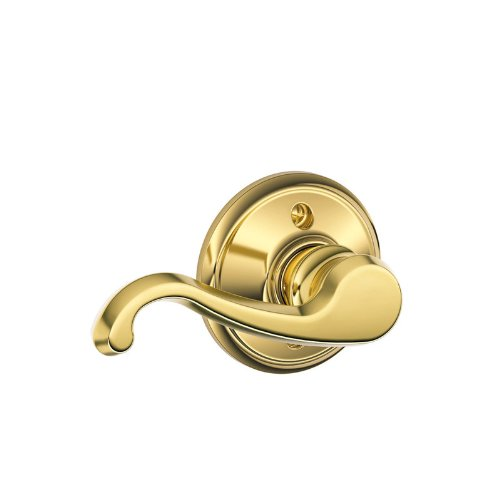 Schlage F170 Callington Left Hand Half Dummy Bright Brass Finish - Left Hand Callington Lever