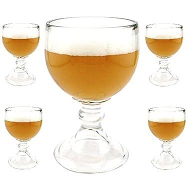 Schooner Beer Glass - 21 Oz 4 Pack