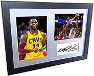 "LeBron James Montage 12x8 A4 Signed""#23""- Cleveland Cavaliers - Autographed Photo Photograph Picture"