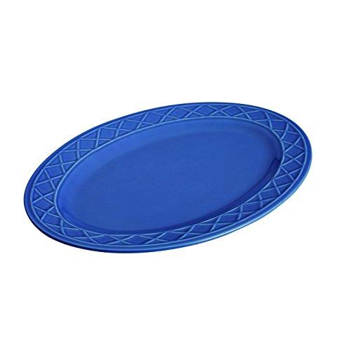 Paula Deen Dinnerware Savannah Trellis Stoneware Oval Serving Platter, 10