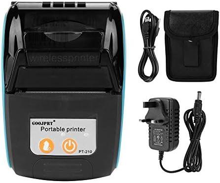 Praktische Drahtloser tragbarer Bondrucker Bluetooth 4.0 Thermo-Rechnungsdrucker / 58 mm 110-240 V/Unterstützung Android/IOS/Windows/Klein/Leicht (Blau) Klein und leicht
