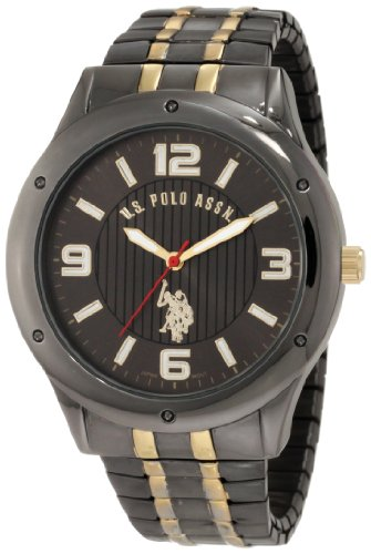 Polo Gunmetal Case Watch (U.S. Polo Assn. Classic Men's USC80193 Horseman Round Case Gun-metal/Gold-tone Expansion Watch)