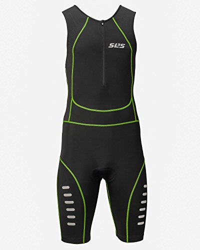 Men`s Triathlon Suit FRT Tri Suit - 1 Pocket - Lime - XL