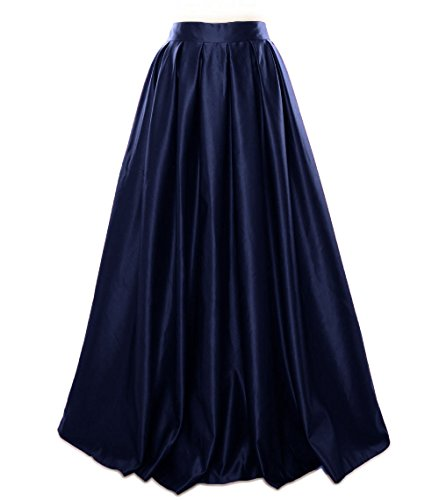 Skirt MACloth Prom Satin Dress Formal Women Party Dunkelmarine Long Evening rqBx8Fr