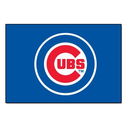 FANMATS MLB Chicago Cubs Nylon Face Starter Rug