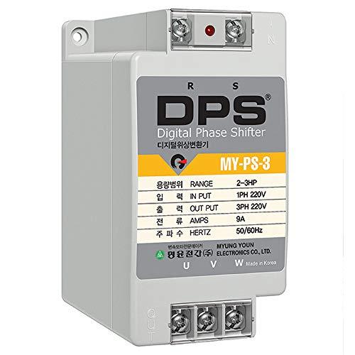 Phase Converter for 2HP Motor(2-3HP), Digital Phase Converter, 1 Phase to 3 Phase