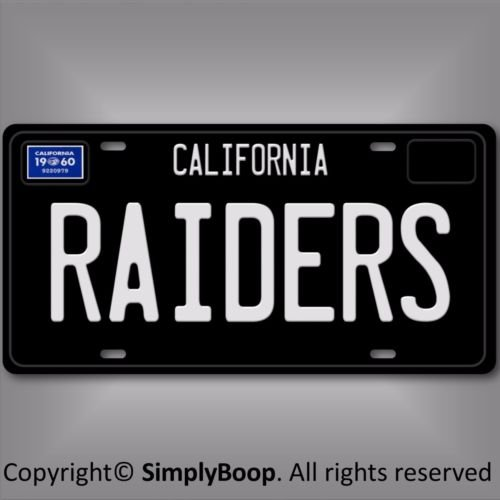 Forever Signs Of Scottsdale Oakland Raiders 1960 California NFL Football Team Aluminum Vanity License Plate ()