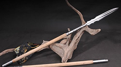 Kung Fu Zhao Yunliang silver gun/Spear/Damascus steel handmade blades/Hardwood rod/Martial arts lance sale