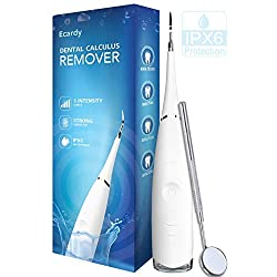 Tartar, Plaque Remover For Teeth Cleaning Kit - Ultrasonic Tooth Cleaner - Dental Calculus Remover - Removes Calculus, Stain, Plaque, Tartar - Teeth Cleaning Tool #1 (White)