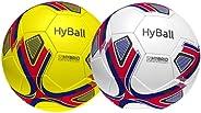 HyBall G1 Hybrid Soccer Ball Match Ball Size 5 - (Multi Color Pack) Adults & Kids US Patented Match/Traini