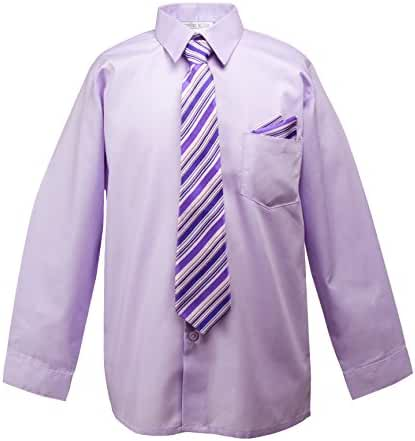 Spring Notion Baby Boys' Dress Shirt with Tie and Handkerchief Set