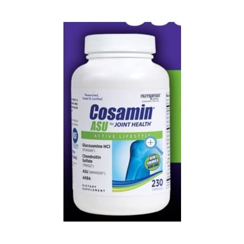Image of Health and Household Cosamin ASU Joint Health Active Lifestyle Glucosamine HCl Chondroitin Sulfate AKBA 230 capsules (2...