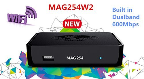 Price comparison product image Informir MAG 254 W2 MAG254W2 IPTV OTT Set Top Box Internet TV STB w / 600 Mbps Built in Wifi