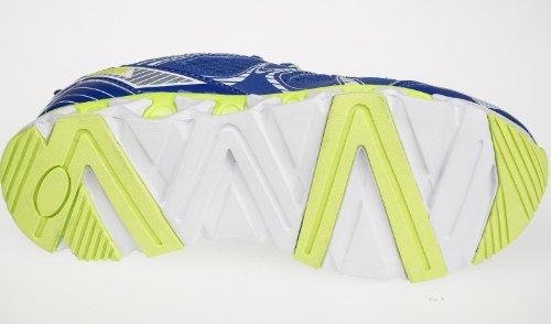 Unbekannt - Zapatillas para niño Azul - Bleu - Blu / Verde Neon