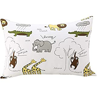 UOMNY Kids Toddler Pillowcases100% Natural Cotton Travel Pillowcase Cover with Envelope Closure 1 Pcs 13x18 Baby Pillow Cases for Sleeping Tiny Pillows case for Elephant Kids' Pillowcases