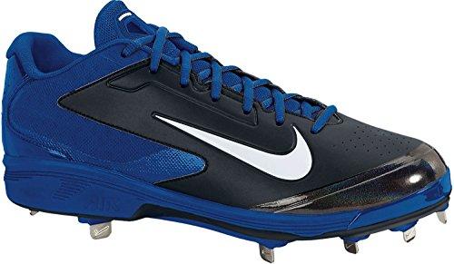 Nike Herren Huarache Pro Low Metal Baseballschuh Blau Schwarz