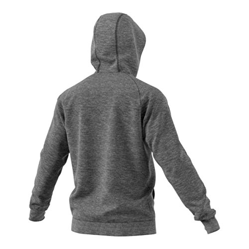 gris oscuro Heather Y Adidas ni con negro Core18 Sudadera os capucha wz8xU
