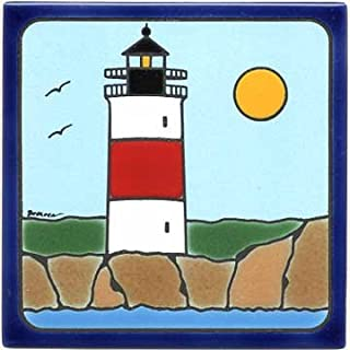 product image for SANKATY Lighthouse Tile, SANKETY Lighthouse Wall Plaque, Lighthouse Trivet LH-6