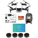 DJI MAVIC Air Combo Arctic White - Bundle With 64GB Micro SDXC U3 Card, Hard Case Backpack, FS62 Mavic Air Multi-coated 4K Camnra Lens Filters 4-Pack, Care Refresh Mavic Air