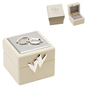 Beautiful Amore Double Wedding Ring Box Amazoncouk Kitchen Home