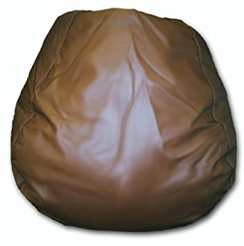 Jumbo Vinyl Bean Bag Chair In Brown