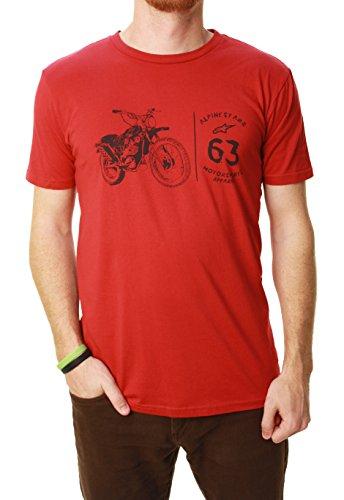 Die flüchtige Gewohnheits geeignetes grafisches T Shirt der Alpinestars Männer