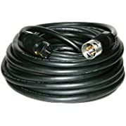 CEP Construction Electrical Products 6400S 100-Feet Black Rubber Alloy Temporary Power Cord with 50-Amp Plug Ends