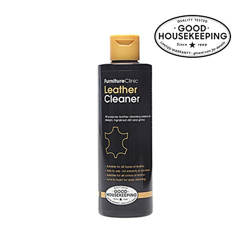 Furniture Clinic Leather Cleaner - Leather Cleaning for Car Interiors & Seats, Leather Furniture, Couches, Shoes, Boots, Bags | 8.5oz Suitable for all Leather Types/Colors (black, brown, & more)