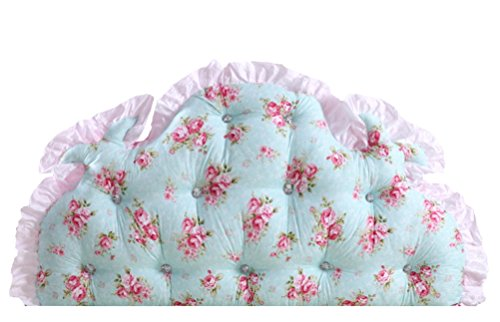 Stuffed Ruffle Floral Wedge Cushion Bed Backrest LivebyCare Sofa Back Positioning Support Reading Pillows Home Office Lumbar Pad with Removable Cotton Cover by LivebyCare