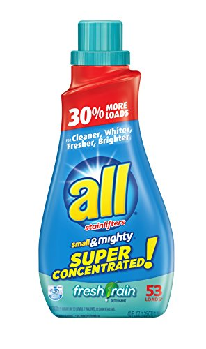 Mighty Concentrated Liquid (all Small & Mighty Super Concentrated Liquid Laundry Detergent, Fresh Rain, 40 Fluid Ounces, 53 Loads)