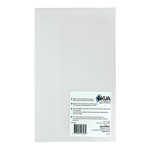 Akua Printmaking Plates, 8 X 12 inches, Clear, Pack of 3 (PET8123)