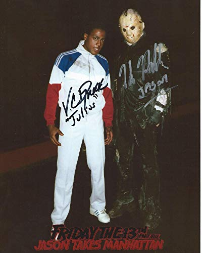 Friday the 13th Part VIII: Jason Takes Manhattan Signed Autographed Kane Hodder as Jason Voorhees and V.C. Dupree as Julius 8x10 Photo