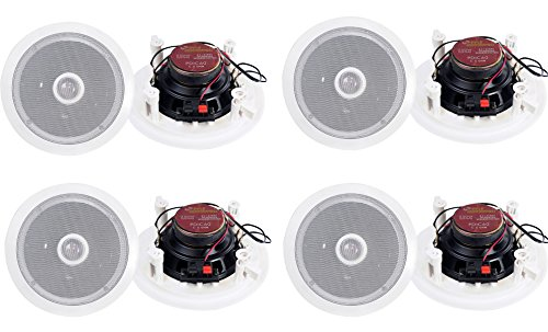 8) Pyle PDIC60 6.5'' 250W 2 Way Round In Wall/Ceiling Home Speakers System Audio by Pyle